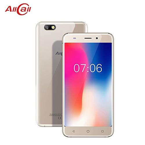 feiledi Trade Dual-SIM-Smartphone, AllCall Madrid 3G-Mobiltelefon 5,5-Zoll-Pixel (1280x720) Quad-Core-Prozessor mit 1,3 GHz 1 GB RAM 8 GB ROM 8MP + 2MP-Kameras - Gold