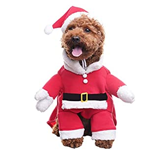 bingpet dog christmas costumes with santa claus hat pet clothes suit xmas outfits hoodies for dogs puppy cats cosplay holiday large BINGPET Dog Christmas Costumes with Santa Claus Hat Pet Clothes Suit Xmas Outfits Hoodies for Dogs Puppy Cats Cosplay Holiday Large 41BBjx5gCIL