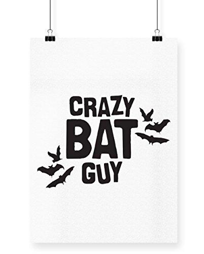 hippowarehouse Crazy Bat Guy Poster Druck Wall Art Design A4 (Monster Guy Kostüme)