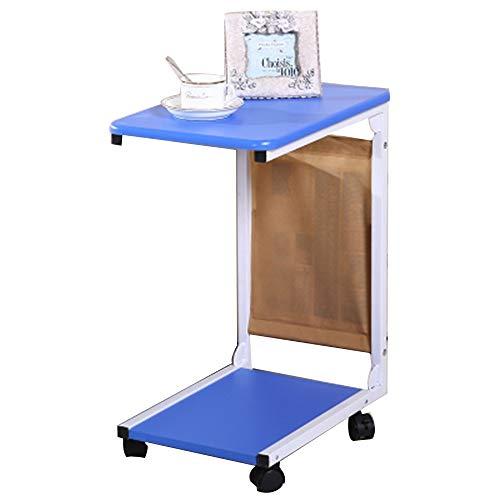 Moderne Stahl-kaffee-tisch (Zhuozi FUFU Tische Holz Snack Tisch Sofa Couch Kaffee Ende Tisch Nachttisch Laptop Schreibtisch Moderne Möbel für Home Office, 2 Farben Drop-Blatt-Tabelle (Farbe : Blau))