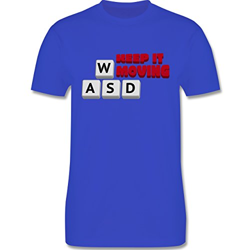 Nerds & Geeks - Tastatur WASD Keep It Moving - Herren Premium T-Shirt  Royalblau