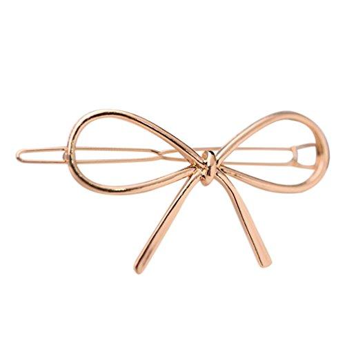 Zoylink Metall Haarspange Bowknot Haarspange Stylish Haarnadel für Frauen