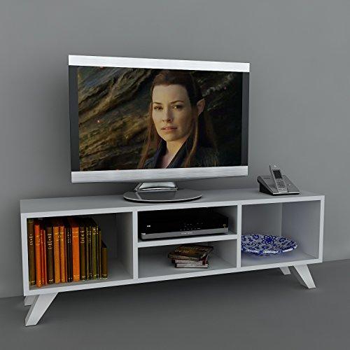 Wohnwand Lowboard Anbauwand Wohnwandkombi TV Medienwand YAREN in Weiß 1728 - 3