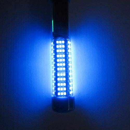 Gracorgzjs 180 LEDs, 12 V, 900 lm, Unterwasser-Nachtlicht, Angellicht, blau -