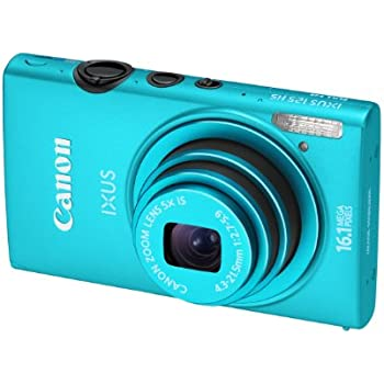 Canon IXUS 125 HS Digitalkamera (16 Megapixel, 5-fach opt. Zoom, 7,5 cm (3 Zoll) Display, Full HD, bildstabilisiert) blau