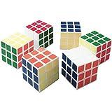Yang Caja de 6 Cubo Rubik 3x3 Color Claro 6.8 cm