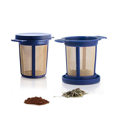 Finum Brewing Basket M, Dauerfilter, blau