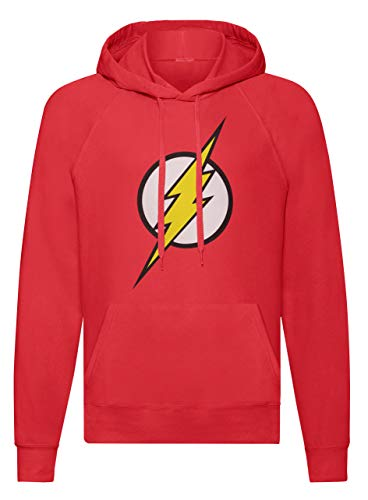 LaMAGLIERIA Unisex-Hoodie The Big Bang Theory - Flash - Kapuzenpullover Sheldon Cooper Serie Tv, L, rot