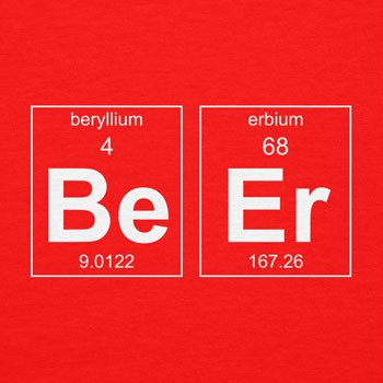 TEXLAB - Beryllium and Erbium = Beer - Damen T-Shirt Rot