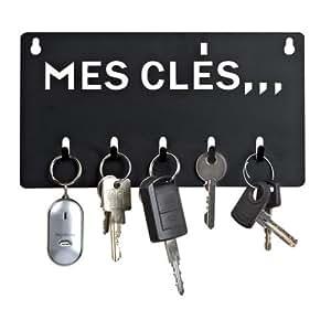 Accroche clés en métal noir mes clés DE116