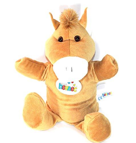Kinder Plüsch Handpuppe Kuscheltier Stofftier Geschenk Puppe Theater Pferd 35cm