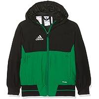Adidas BQ2788 Chaqueta, Niños, Negro/Verde/Blanco, 164 (13/14 años)
