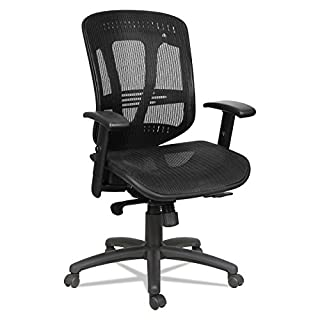Alera EN4218 Eon Series Multifunction Wire Mech, Mid-Back Suspension Mesh Chair, Black