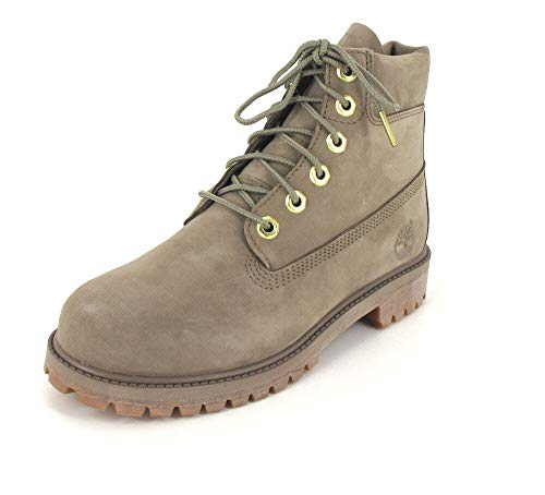 Timberland Unisex-Kinder 6-inch Premium Wp Klassische Stiefel, 40 EU, Beige