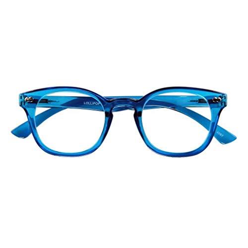 Lesebrille LOLLIPOP, blau, 2.00 dpt.: Lesebrille mit Federtechnik, Stärke: +2.00 dpt. (in weiteren Farben/Stärken erhältlich)