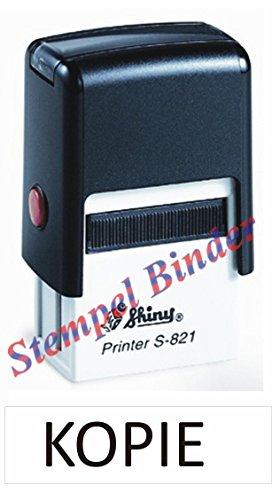 Automatikstempel mit Stempelkissen 10 x 26 mm mit Text: KOPIE