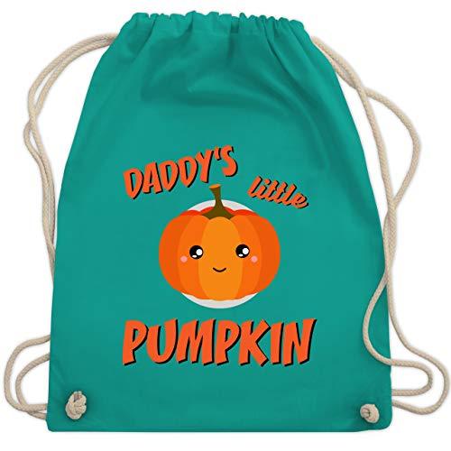 Anlässe Kinder - Daddys little Pumpkin Halloween - Unisize - Türkis - WM110 - Turnbeutel & Gym Bag