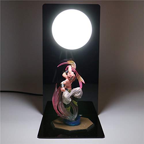 Dragon Ball Z Goku Figuras de acción Lámpara DIY Anime Modelo Luz de noche Muñecas LED Lámpara de mesa para niños Regalos Juguetes para niños Luces, 3