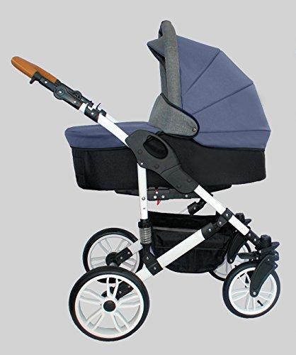 Passeggino trio: navicella + passeggino + ovetto. BBtwin X-Trall. Blu Navy
