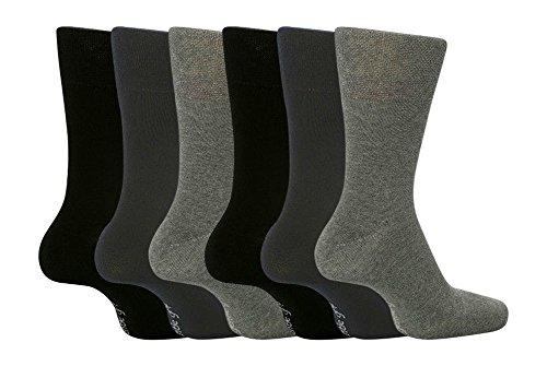 6 Pairs Mens SockShop BIGFOOT Gentle Grip Loose Top Socks Size 12-14 Uk, 46-50 eur