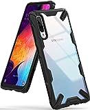 Ringke Fusion-X Gestaltet für Galaxy A50 Hülle, Transparent Rückseite Renovierter TPU Rahmen Bumper Stoßfänger Doppelter Schutz Case für Galaxy A50 (2019) - Schwarz