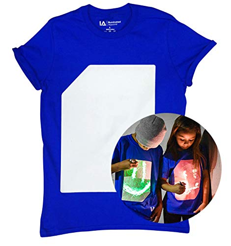 Illuminated Apparel Interaktive Leucht T-Shirt (Blau/Green, S)