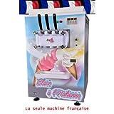 Machine à glace italienne de comptoir - 2 parfum et 1 mix -