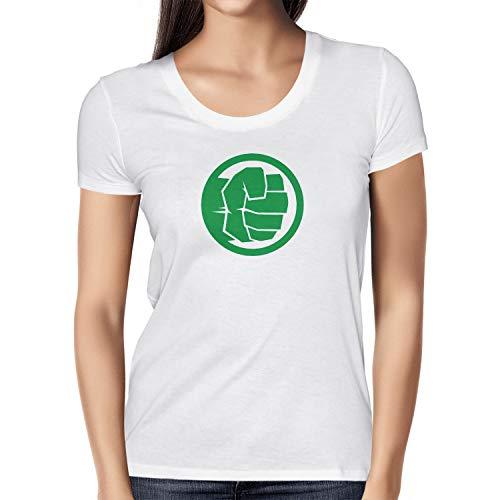 (Texlab Smashing Fist - Damen T-Shirt, Größe XL, weiß)