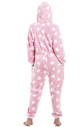 Camille Erwachsener und Kind Herz alles in einem Onesie Pyjama 46/48 PINK - 2