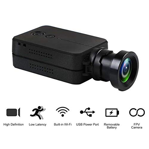 HankerMall RunCam 2 Camera Scope Cam 35mm Lens 1080P WiFi Integrato iOS / Android App 850mAh Batteria sostituibile HD Action Video Sport Camera