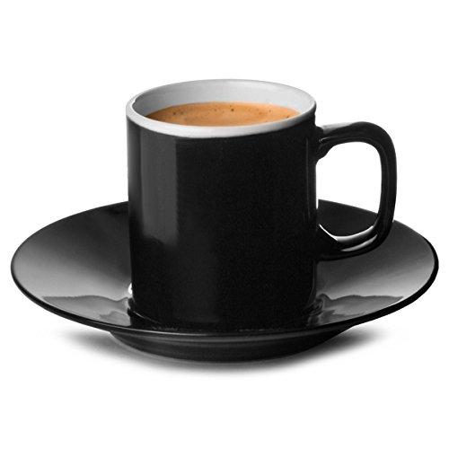 Price & Kensington Espresso-Tasse und Untertasse, 88ml, schwarz (China Petite Bone)