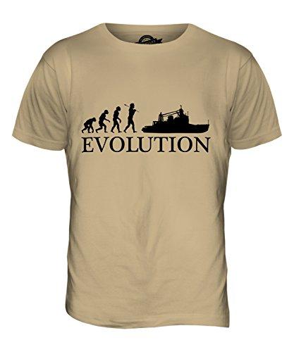CandyMix Trawler Evolution Des Menschen Herren T Shirt Sand