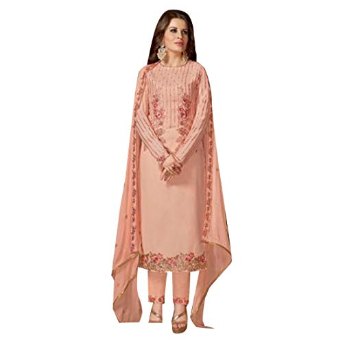 ETHNIC EMPORIUM Indian Pakistani Straight Salwar Hochzet Señoras Kamiz Kameez Traje Bollywood Girls Top Straight Pants Traje de la Boda Georgette Mens Party Women 2887