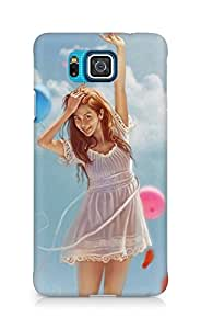 Amez designer printed 3d premium high quality back case cover for Samsung Galaxy Alpha (Cartoon Girl)