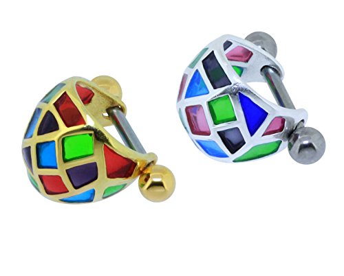 sl-silver-helix-piercing-earring-multi-coloure-schild-karo