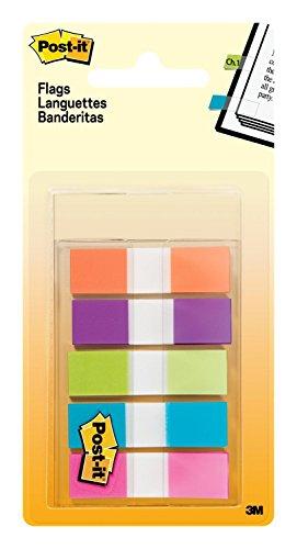 Post-it 90842 Miniset 100 Segnapagina, Mini, 100 Pezzi, Azzurro/Fucsia/Verde/Lilla/Arancione