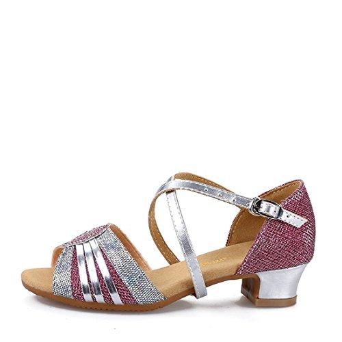 Wxmddn Ladiesscarpe balletti scarpe danza scarpe tango ginnastica danza jazz scarpe danza allenatori scarpe pratica performance Dance scarpe per ragazze donne Rosa dentro