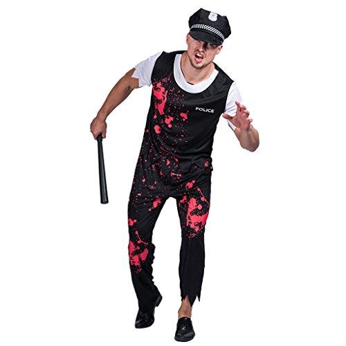 Eraspooky adulti zombie poliziotto costume per uomo poliziotto costume da halloween