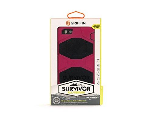 Griffin Survivor Schutzhülle für iPhone 6 Plus/6s Plus - schwarz/blau/schwarz Rose / Schwarzes