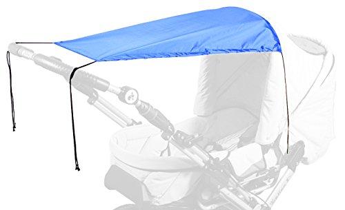Sunnybaby 13272 Sonnensegel für Kinderwagen UPF 50 plus, royal blau