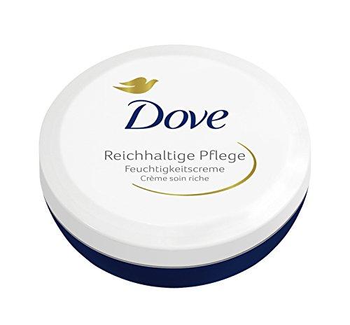Dove Feuchtigkeitscreme Reichhaltige Pflege, 3er Pack (3 x 150 ml)