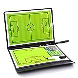 Vaugan Fútbol Soccer Táctico Tabla, Trainning Assisitant Equipos 2.5 Plegable Cuero Enseñanza Tabla