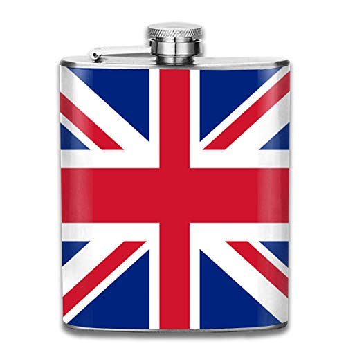 Edelstahl Flaschen 7 Unze Union Jack Flagge Whisky Glaskolben Dichtheitsprüfungs Wein Männer Frauen