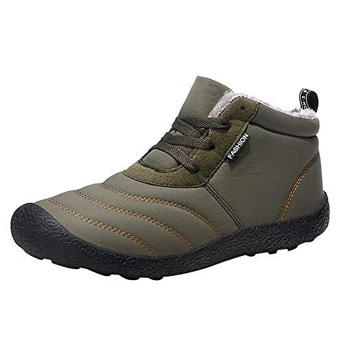 LIMITA Herren Winter Schneeschuhe Einfarbig warm halten Stiefeletten Plus Samtstiefel Unisex-Erwachsene Combat Boots Trekking- & Wanderstiefel Wüste Armee Kampfpatrouille Stiefel