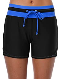 5ac4483d0c ATTRACO Ladies Swim Boardshorts Surf Board Shorts Boyshort Bikini Bottoms