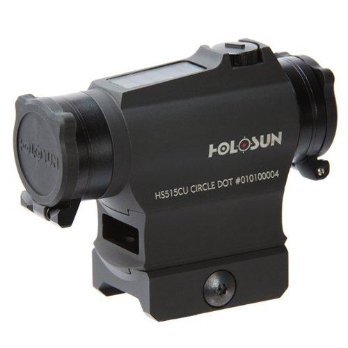 Holosun HS515CU Circle Dot Solar Sight, 2 MOA Dot, 65 MOA Circle, Black by HOLOSUN