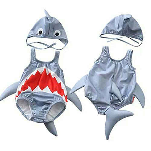 HUXINFEI Hai Neugeborenen Badeanzug, Baby Badeanzug Bikin, Kleinkind Sommer Bademode, Kinder tragen Beachwear Badeanzug Druck - Piraten Mädchen Teen Kostüm