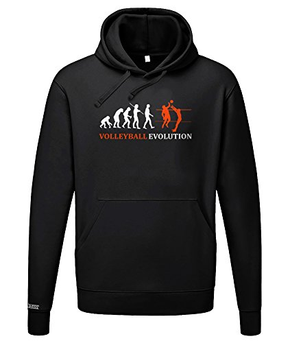 VOLLEYBALL EVOLUTION - HERREN UND DAMEN HOODIE in Schwarz by Jayess Gr. S