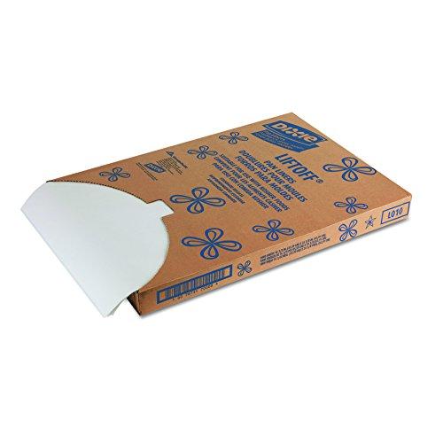 Dixie LO10fettdicht Liftoff Pfanne Liner, 41,6cm Länge x 61,9cm Breite, weiß (Fall von 1000) Portion Shell