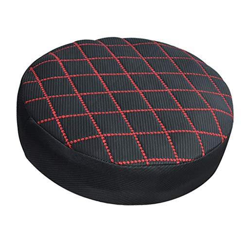 FLAMEER Bezug Hussen Sitzbezug Stuhlbezug Stuhlhussen Stretchhuss für Barhocker Hocker - Schwarz-14 Zoll (14 Hocker Kissen Zoll-runde)